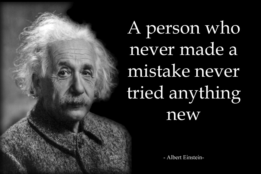 Image result for einstein quote mistake
