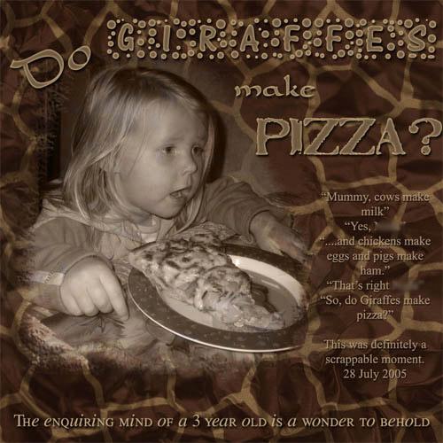 Do Giraffes Make Pizza
